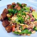 Nasi Goreng - indonézska pražená ryža so zázvorovým tofu