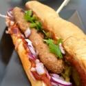Mexický hot-dog s vegan klobásou