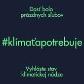Repost od @platformaudrzatelnosti viac na https://www.klimatapotrebuje.sk/   Ideme do finále. Už v piatok parlament prerokuje petíciu Klíma ťa potrebuje. Ešte stále však nie je jasné, či vypočujú našu žiadosť na vyhlásenie stavu klimatickej núdze. Pošlime im spoločne odkaz, že nám na klíme záleží.  #klimatapotrebuje